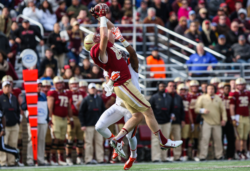 newest 5c9bc c1c51 Tommy Sweeney Looks to Add Tight Ends Back into BC Offense ...